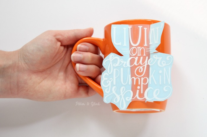 How to Apply Vinyl to a Curved Coffee Mug