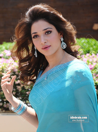 only actress 143 tamanna front and side view hot in blue. Black Bedroom Furniture Sets. Home Design Ideas