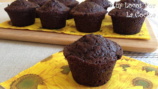 Muffins de Chocolate con Pepitas de Chocolate