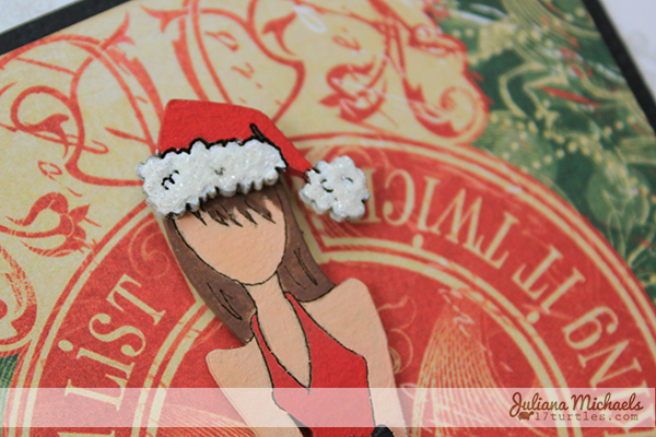 Naughty or Nice Nutting Doll Christmas Card by Juliana Michaels detail