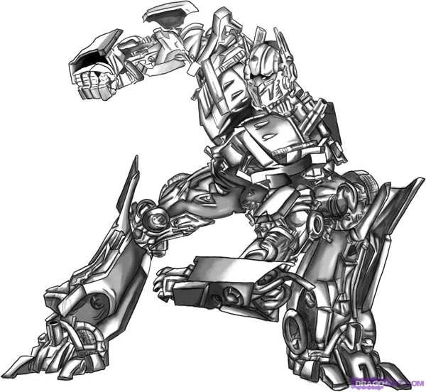 Nengaku Transformers Coloring Pages Optimus Prime