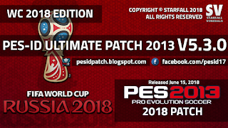 PES 2013 PES-ID Ultimate Patch 2013 v5.3.0 - World Cup 2018 Edition Update [15/6/2018]
