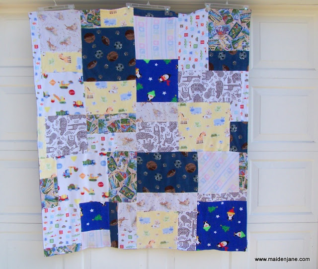 Quilt From Baby Blankets and Sheets
