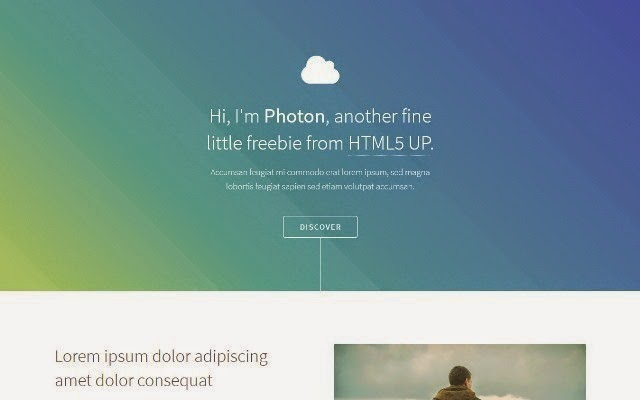Photon - Free Html5 Template