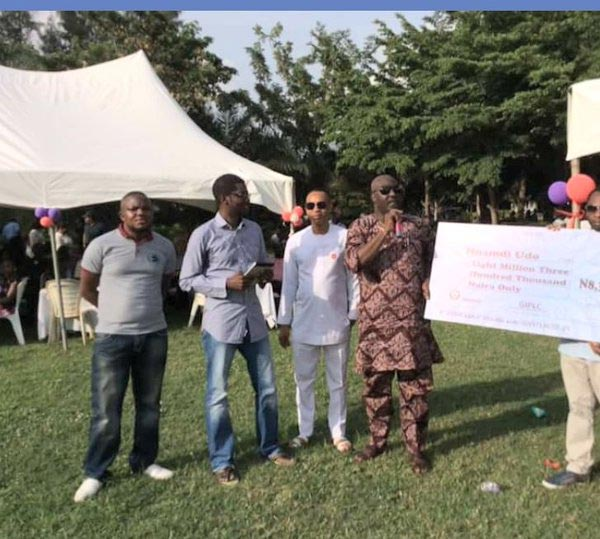 Senator Dino Melaye presents N8.3m for treatment of child undergoing surgery