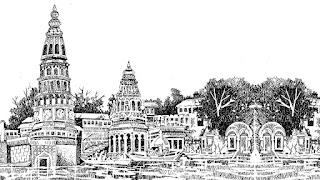 पंढरपूर येथील मंदिराचे रेखाचित्र