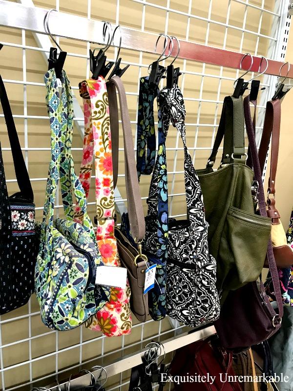Used Vera Bradley Bags on hooks