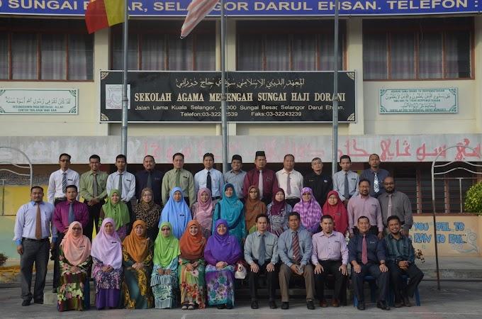 Gambar Guru, Pengawas & Sidang Redaksi SAM Sungai Haji Dorani