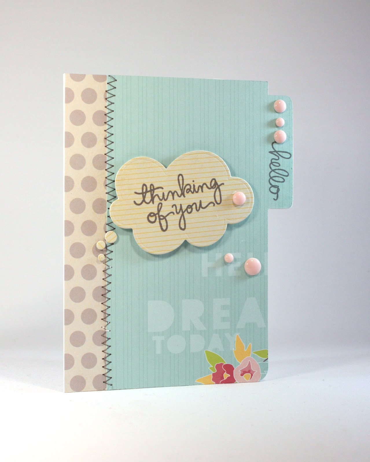 File Cards 10 Heart Svg: Sprinkled With Glitter: File Folder Card Thinking Of You
