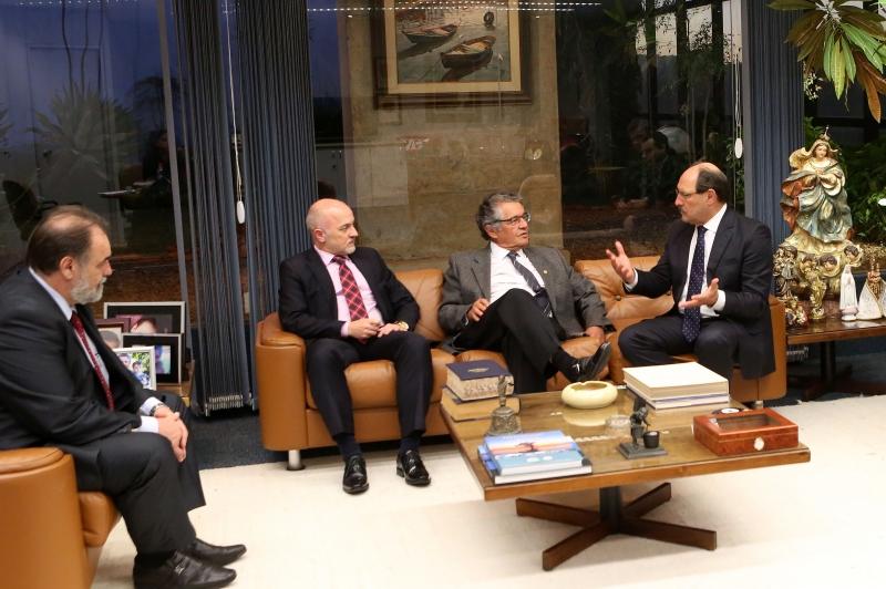 O governador esteve em audiência com o ministro Marco Aurélio, nessa terça-feira, em Brasília - Foto: Luiz Chaves/Palácio Piratini