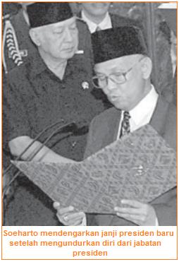 Peristiwa politik - Jatuhnya Presiden Soeharto