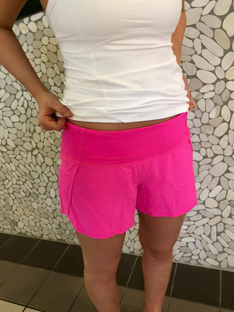 lululemon raspberry-glo-run-times  short kanto-tank
