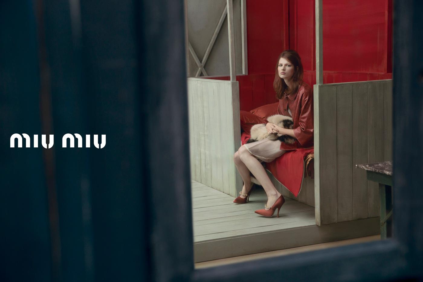 5bd7a7538b1f Miu Miu Spring Summer 2013 Ad Campaign Models  Malgosia Bela