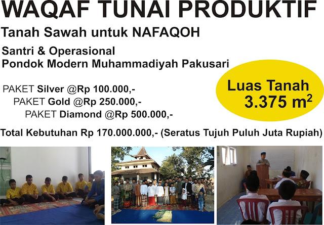 Waqaf Tunai Produktif Pondok Modern Muhammadiyah Pakusari