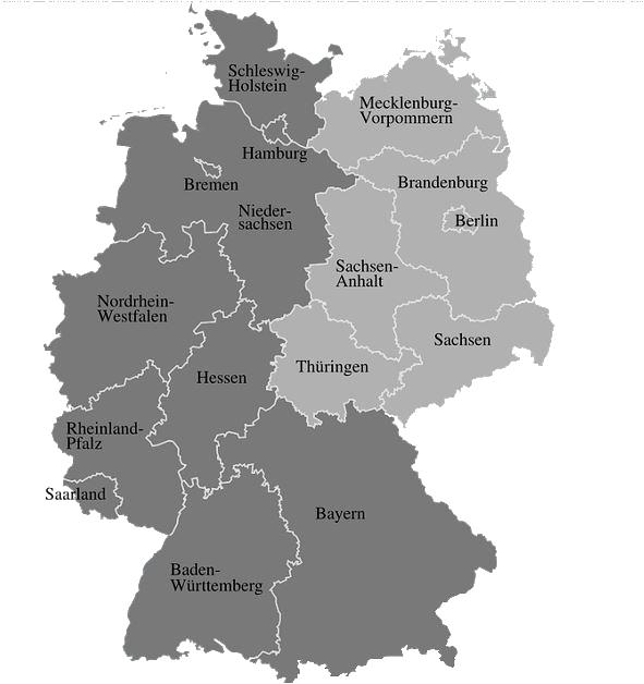 Almanca almanya'nın şehir isimleri Der Berlin  Der Saschsen  Der Bayern  Der BadenWürttemberg  Der Hessen  Der Rheiland Pflaz