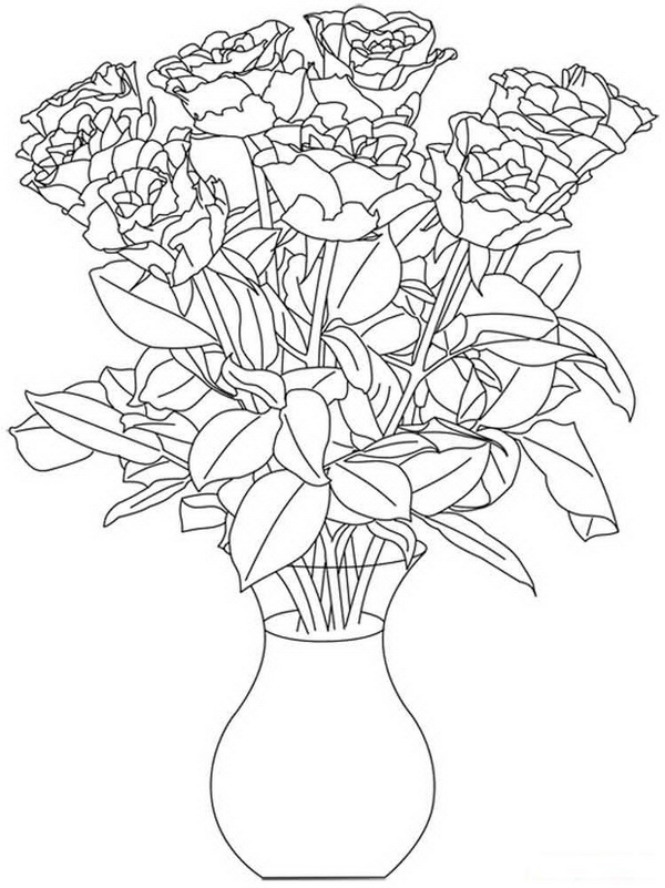 flower coloring pages free printable coloring pages