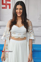 Telugu Actress Amyra Dastur Stills in White Skirt and Blouse at Anandi Indira Production LLP Production no 1 Opening  0037.JPG