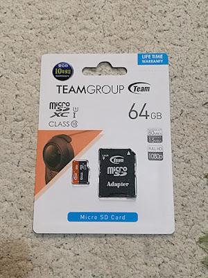 64GBマイクロSDカード