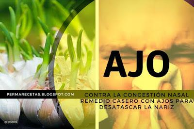 Remedio Casero con ajo contra la congestión nasal en Terapias y Remedios .com