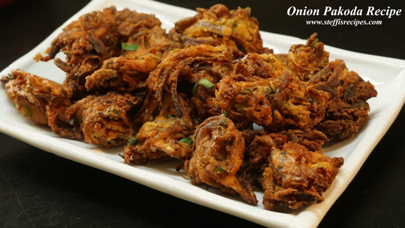 Onion Pakoda Recipe Steffi S Recipes
