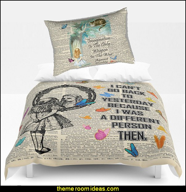 Alice In Wonderland Quote - Vintage Dictionary bedding