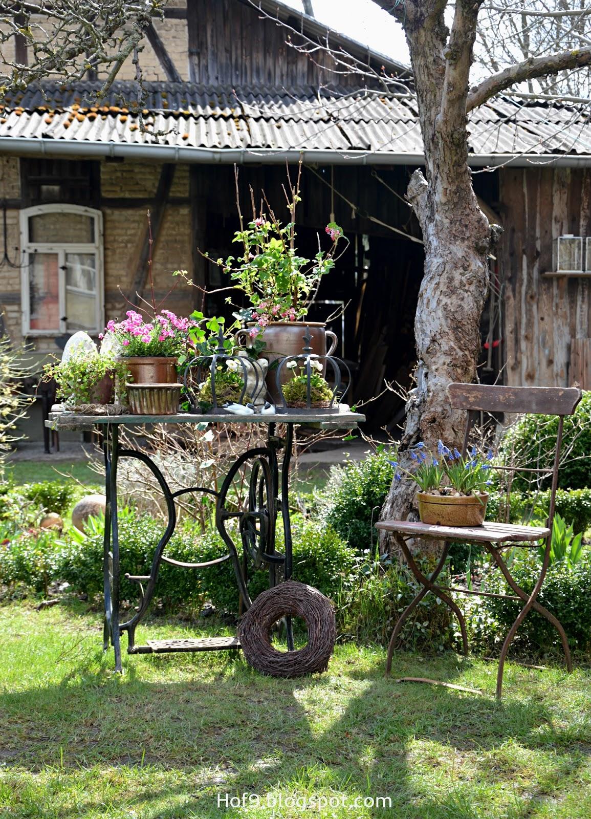 Hof 9 rosa fr hling im garten for Gartendekoration landhausstil