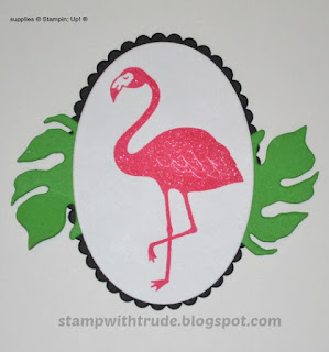 Pop of Paradise, card candy, flamingo, Stampin' Up!, Stamp with Trude
