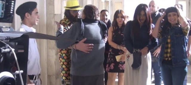 عادل إمام يفاجئ طلعت زكريا وأبطال فيلمه الجديد