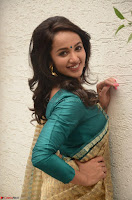 Tejaswi Madivada looks super cute in Saree at V care fund raising event COLORS ~  Exclusive 049.JPG