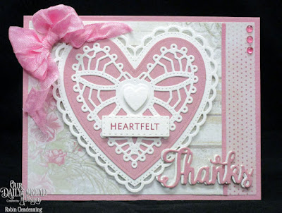 Our Daily Bread Designs Stamp/Die Duos: Thanks For Everything, Our Daily Bread Designs Paper Collection: Shabby Rose, Our Daily Bread Designs Custom Dies: Ornate Hearts, Log Cabin Quilt