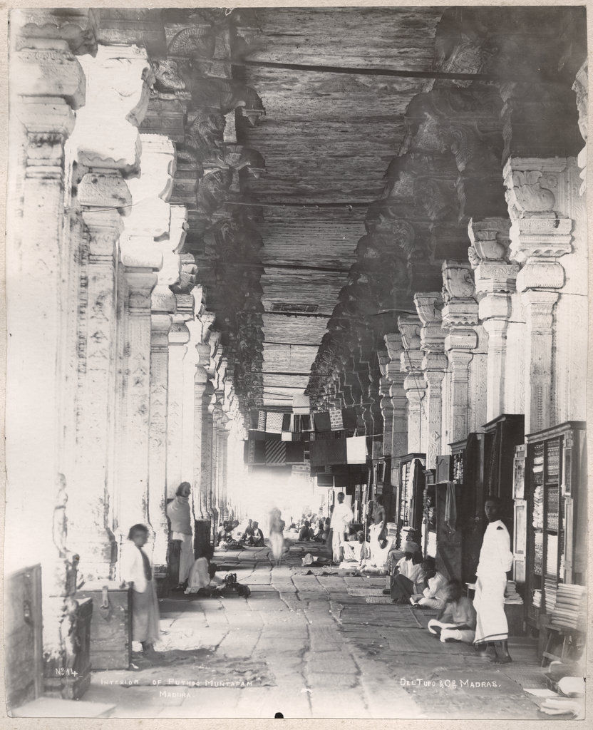 Interior of Puthu Mandapam, Madurai, Tamil Nadu - 1890's