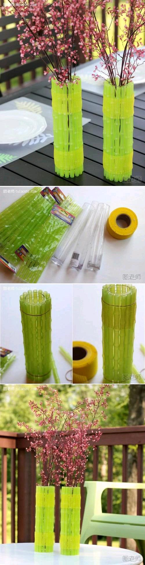 Make a Neon Vase From Green Bamboo