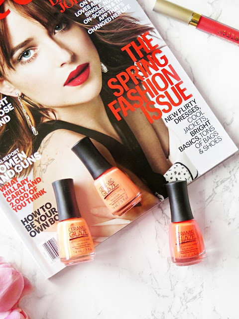 Orange Obsession | Neon Nails For Spring With Ceramic Glaze & Matching Lips | Review & Swatches | labellesirene.ca
