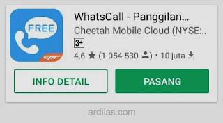 WhatsCall di Playstore - Cara Menelpon Murah Tapi Gratis Via Internet Tanpa Pulsa