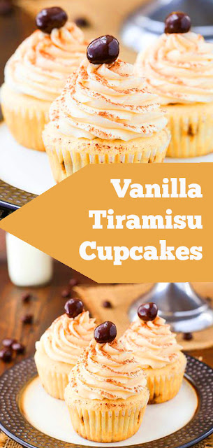 Vanilla Tiramisu Cupcakes | recipes cupcakes |  cupcake recipes vanilla | cupcake recipes unique | cupcake recipe for kids | cupcake recipe simple #vanilla #tiramisu #cupcakes #dessert