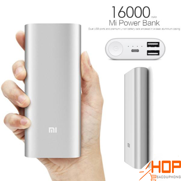 Pin sạc dự phòng Xiaomi Mi 16000 mAh gen 2 thiết kế nhỏ gọn