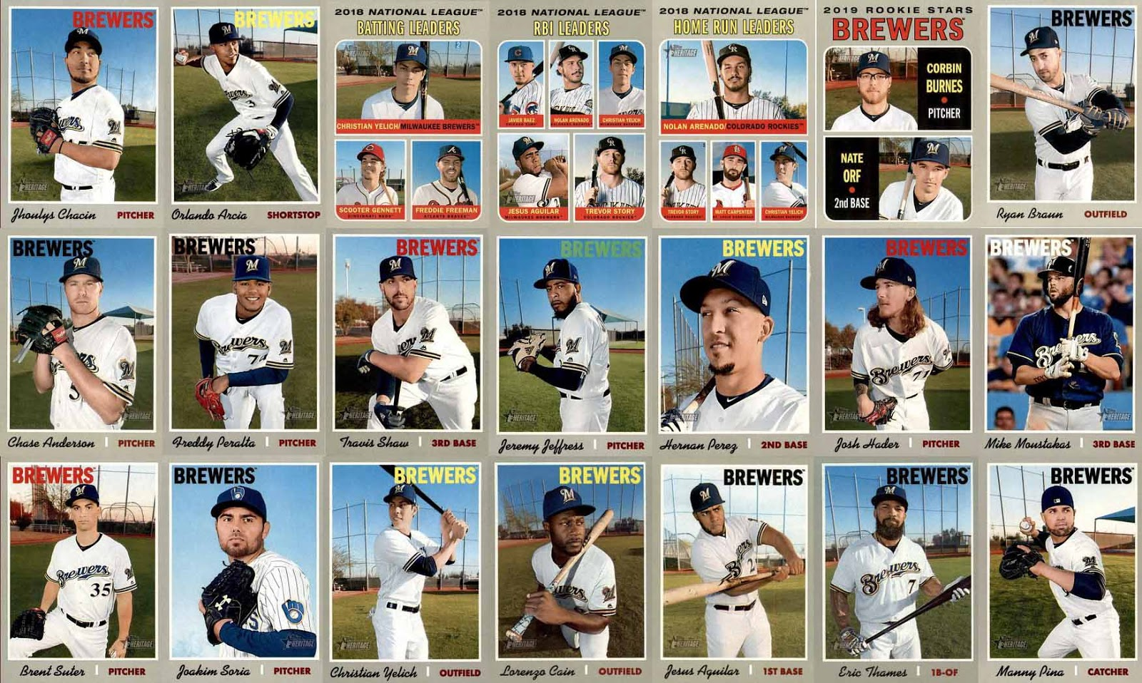 Miles from Miller: 2019 Topps Heritage Ultimate Brewers Checklist