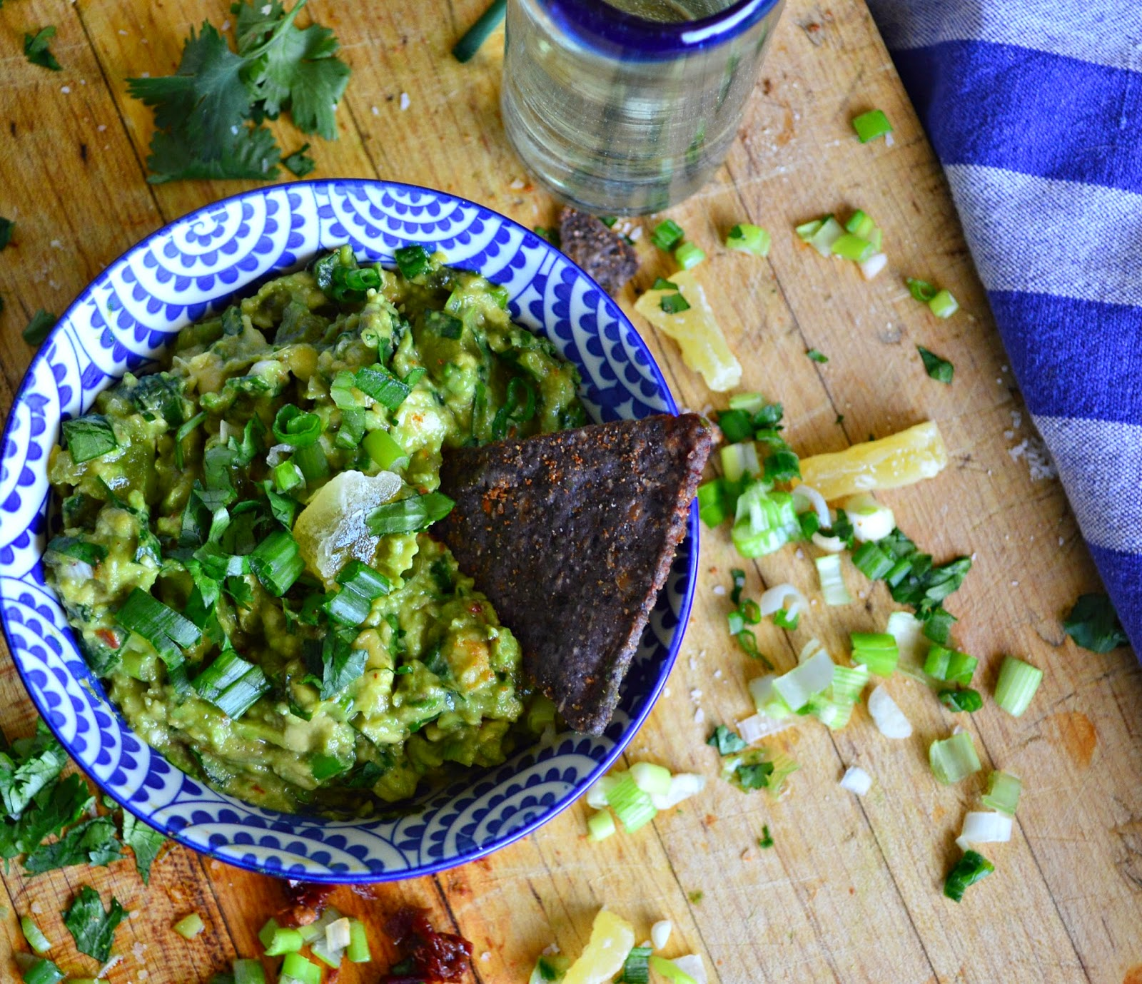 A great guacamole with dried pineapple, chipotle and tequila. Jazz up your avocados. You will love this new twist! #guacamole #dips #appetizers #MexicanFood www.thisishowicook.com