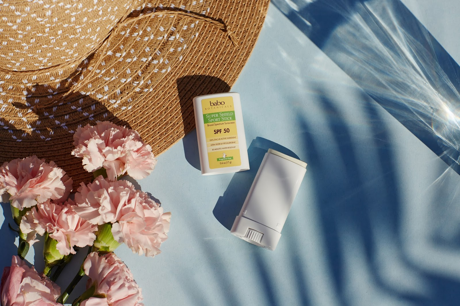Babo Botanicals Super Shield Sport Stick SPF 50 natural zinc sunscreen organic nontoxic nan-nano waterproof hellolindasau