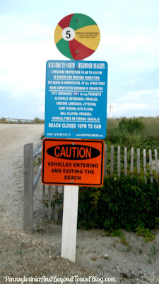 North Wildwood Beach Signs in New Jersey