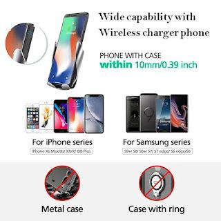 caricatore per auto wireless morsetto automatico s5