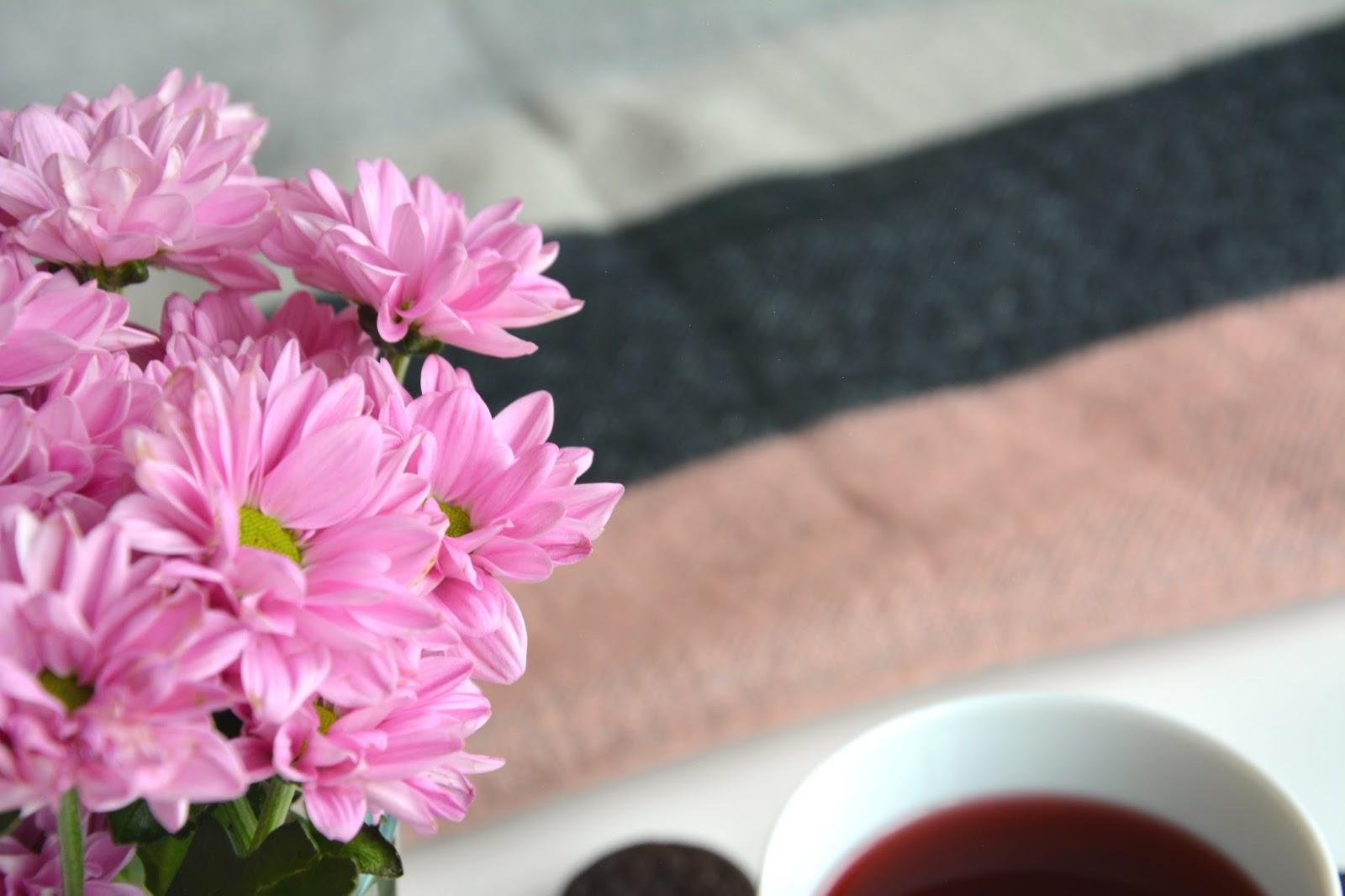 Oreo; Pimkie Scarf; Fresh Flowers