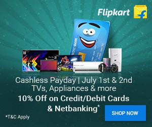 Cashless Payday Sale [1-2 July'17]: 10% Instant Discount on All Prepaid Orders | Flat Rs.3500 Off Lenovo P2 Now at Rs.13499!
