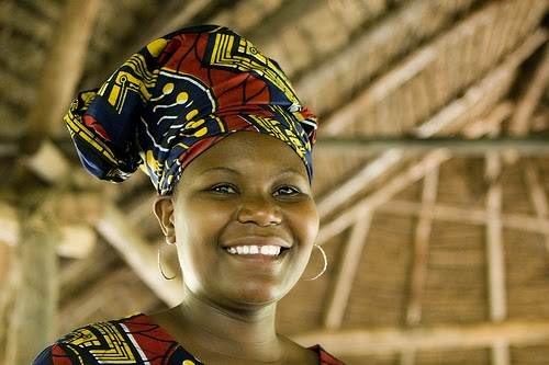Smiling Shinyanga Tanzania woman photo