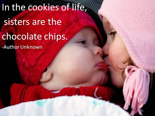 sisters are the chocolate chips