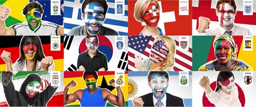 Paint Your Face For The FIFA World Cup in Photoshop