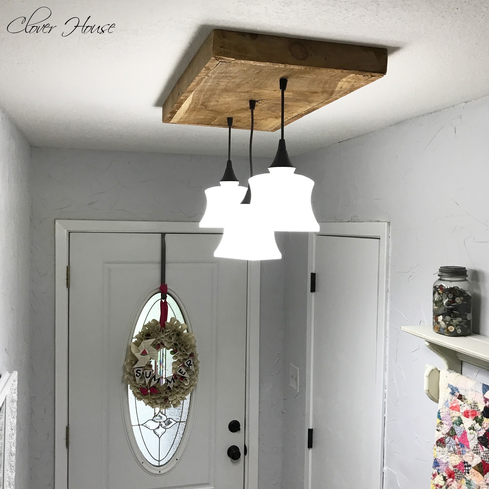 Wood Lighting Fixtures: Clover House: DIY Barn Wood Light Fixture