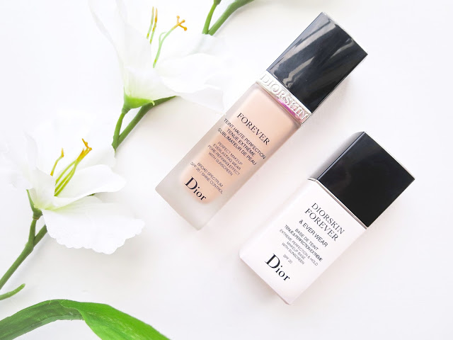 a picture of Diorskin Forever Perfect Makeup Broad Spectrum 35 and Diorskin Forever & Ever Wear Extreme Perfection & Hold Makeup Base