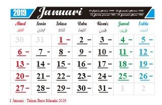 kalender-januari-2019-hari-hari-penting-nasional-dan-internasional-hari-libur-serta-tanggal-merah