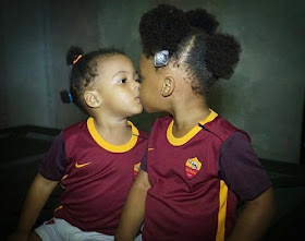 Anna Ebiere Shares Photo Of Flavour's Two Daughters Kissing